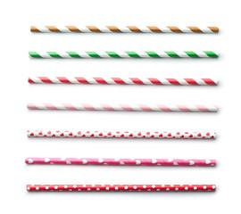 Various paper straws.