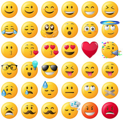 Smileys Emoticons Emojis Set gelb