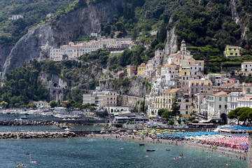 Italy, Campagnia, Amalfi Coast, Amalfi. The town of Amalfi.