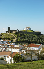 The 13th century medieval castle of Arraiolos. Alentejo, Portugal