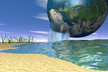 concept - planète ressources eau