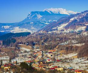 Romanian Carpathian mountains of Piatra Craiului