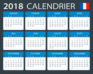 Calendar 2018 - French version