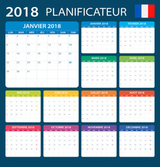 Planner 2018 - French Version
