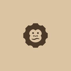 Monkey Face - - sign, symbol.