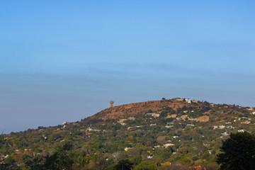 Reservoir on Northcliff Johannesburg against clear sky