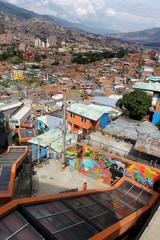 Medellin escelators in Comuna 13
