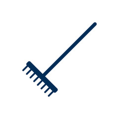 Isolated Harrow Icon Symbol On Clean Background. Vector Rake Element In Trendy Style.