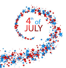 4th July card with stars.