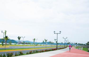 Fototapete - New Panama Causeway - Amador