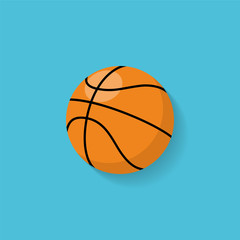 Basketball flat icon. Vector