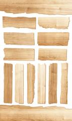 Obraz Vector wood plank isolated on white background - fototapety do salonu