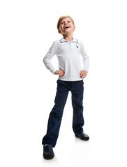 smile happy schoolboy portrait