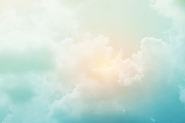 soft cloudy sky with pastel gradient color, nature abstract background