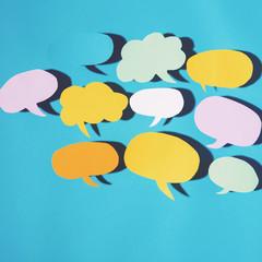 Speech bubble theme text messaging theme