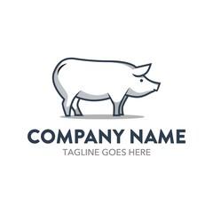 Pig Cartoon Logo Character