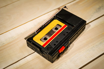 Musical tape recorder with cassette