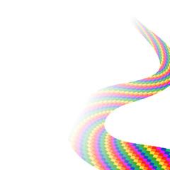 светлый фон с абстрактным объектом, векторная иллюстрация