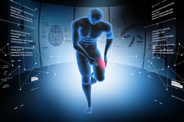 3d man with leg pain