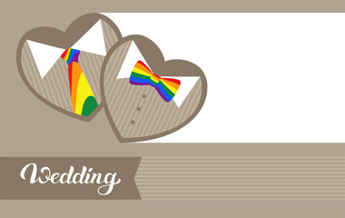 Invitation to an LGBT wedding