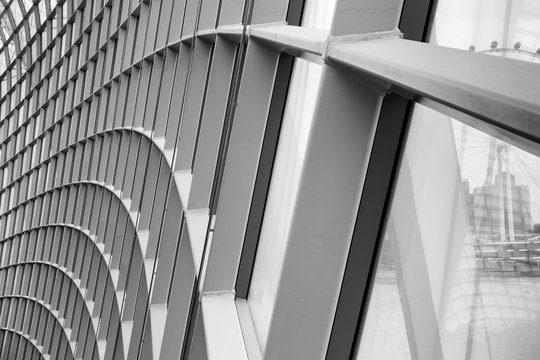 Structure facade and engineering design., Abstract background.