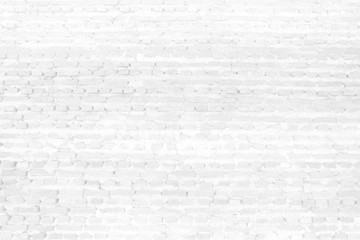 White Brick Wall Texture Background.