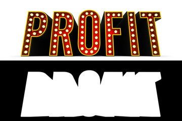 Profit Retro Letters with alpha map