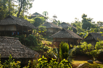 Karen village Beautiful nature,Sufficient lifestyle Tha Song Yang District, Tak Province, Thailand.
