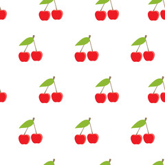 Cherry fruit seamless pattern