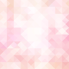 Pale pink geometric triangle background