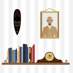 Bookshelf vector illustration