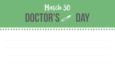 Collection stock doctor day style greeting card