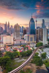 Fotorolgordijn Kuala Lumpur Kuala Lumpur. Cityscape image of Kuala Lumpur, Malaysia during sunrise.