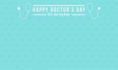 Vector illustration card for doctor day