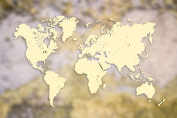 World map on wall background