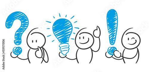 quot stick figure series blue   fragezeichen  gl u00fchbirne clipart stick figure public domain clip art stick figures
