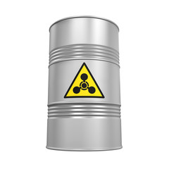 Chemical Weapon Barrel Isolated