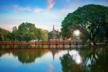 Sukhothai Historical Park, a UNESCO World Heritage Site in Thailand