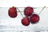 sweet cherries and bubbles
