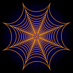 Spider web cobweb background. Vector illustration.