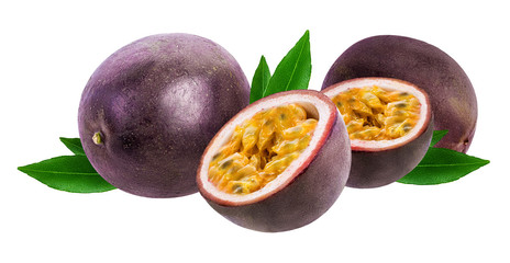 Fototapete - Passion fruit isolated on white