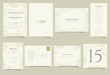 Search photos by chalyn set of wedding invitation cardeen and gray floral minimalist modern conceptctor stopboris Image collections