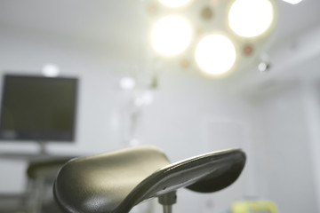 Close up shot of a part of gynecological chair at the hospital