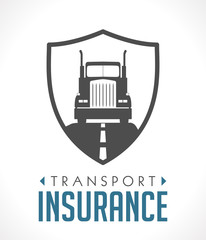 Logo - transport and logistics insurance concept