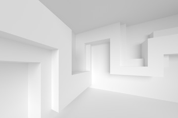 Abstract Interior Background. 3d Rendering