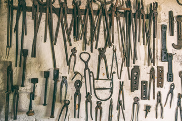 Smithy tools on the wall