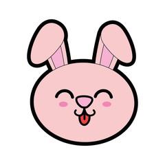 Cute bunny kawaii cartoon icon vector illustration graphic design