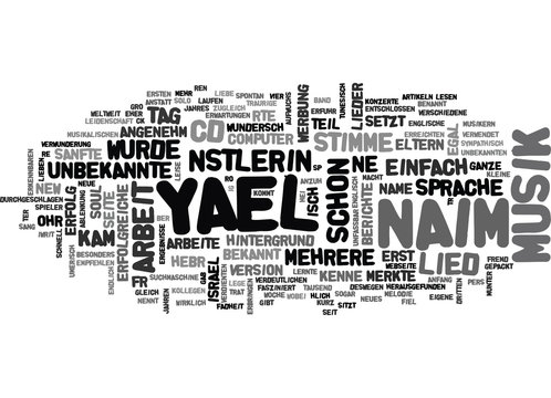 Yael Naim was fr eine Knstlerin TEXT WORD CLOUD CONCEPT