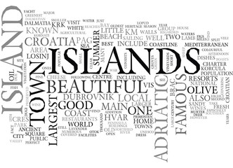 YACHT CHARTER IN CROATIA TEXT WORD CLOUD CONCEPT