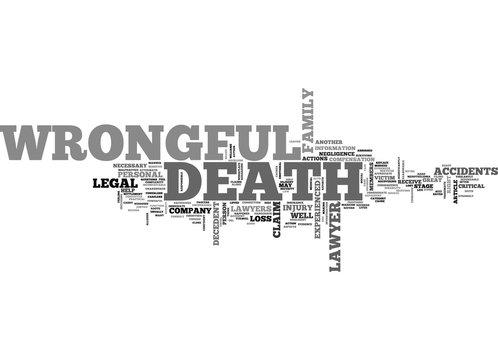WRONGFUL DEATH LAWYERS TEXT WORD CLOUD CONCEPT